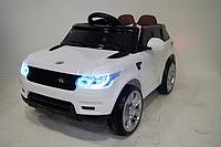 Детский электромобиль Range Rover E004E + РЕЗИНОВЫЕ EVA КОЛЁСА, 4АМОРТИЗАТОРА, дитячий електромобіль белый