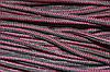 Шнур 5мм с наполнителем (200м) черный+бордо (т)