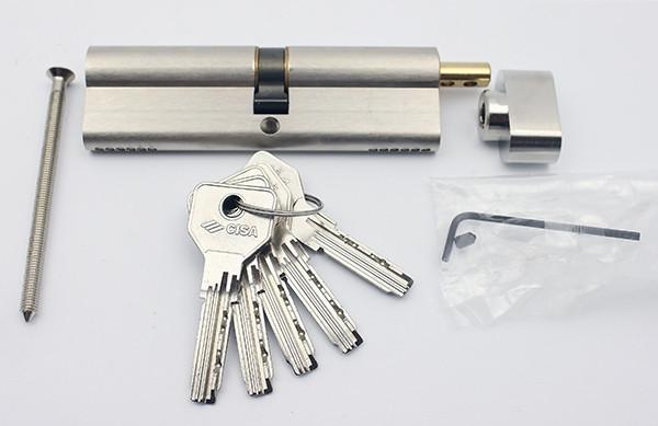 Cisa Asix 105мм 55х50 ключ/тумблер никель (Италия), фото 1