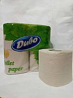 Туалетная бумага макулатурная на гильзе 2-х слойная