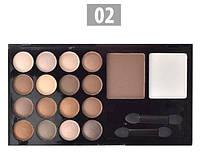 Набор для макияжа № 2 тени + пудры корректирующие