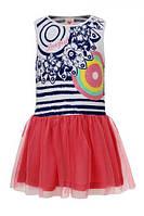 Платье трикотаж коттон с пышной фатиновой юбкой. ТМ Glo-story Венгрия. рост 98-128