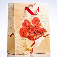 Пакет подарочный 26х34см (материал картон)