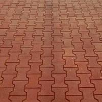Тротуарная плитка Катушка, красная