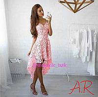 Женское кружевное платье люкс качества, 2 цвета