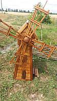 Деревянная декоративная мельница ручной работы