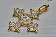 """Серебреный крест 925 пробы  """"Богородичный"""""""