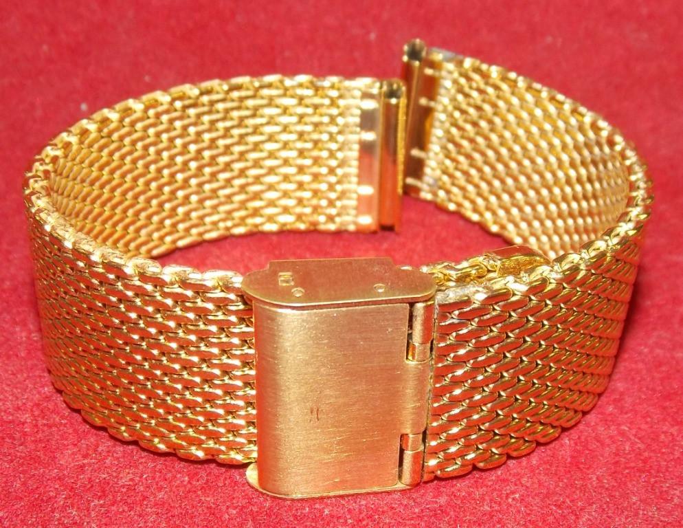 Браслет на часы Миланское Плетение золото 20мм