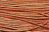 Резинка круглая, шляпная 2.5мм, оранж+черный