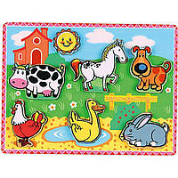 Рамка-вкладыш Viga toys Домашние животные (56438)