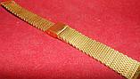 Браслет на часы Миланское Плетение золото 18мм , фото 2