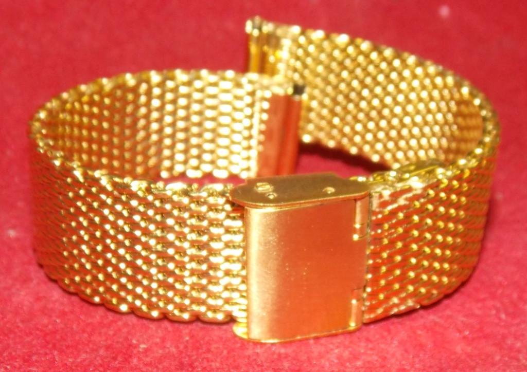 Браслет на часы Миланское Плетение золото 18мм