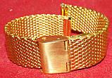 Браслет на часы Миланское Плетение золото 18мм , фото 3
