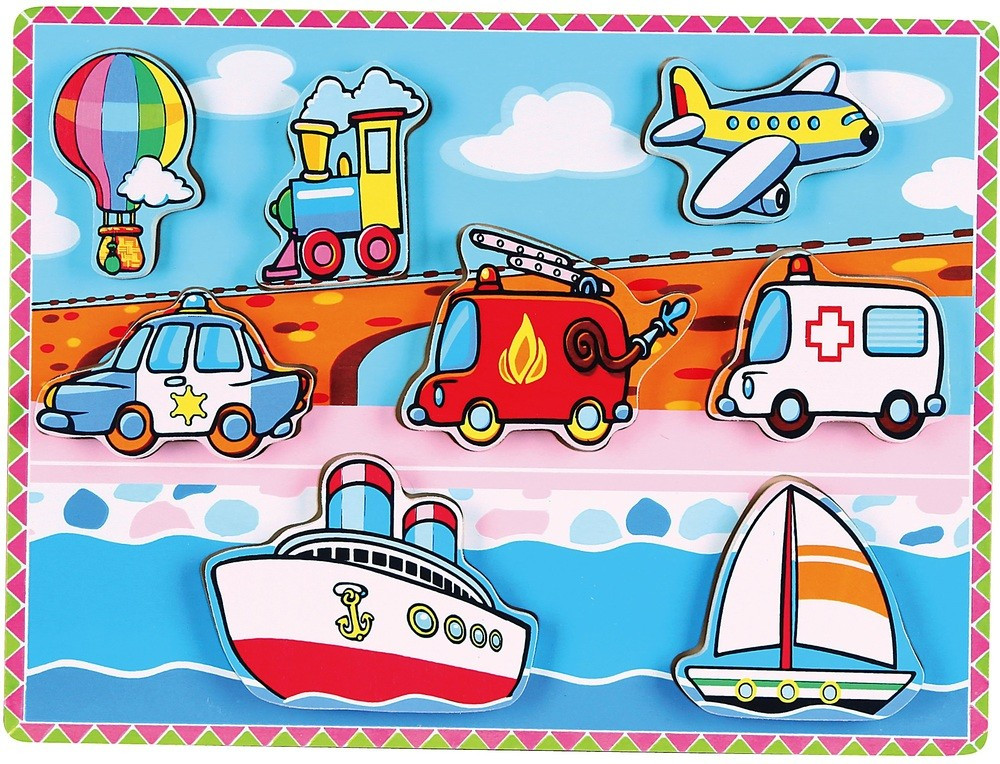 Рамка-вкладыш Транспорт Viga toys (56436)