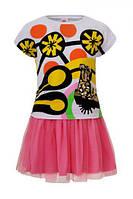 Подростковый Летний комплект футболка и  пышная  юбка-фатин ТМ Гло-стори Венгрия Рост 134-158