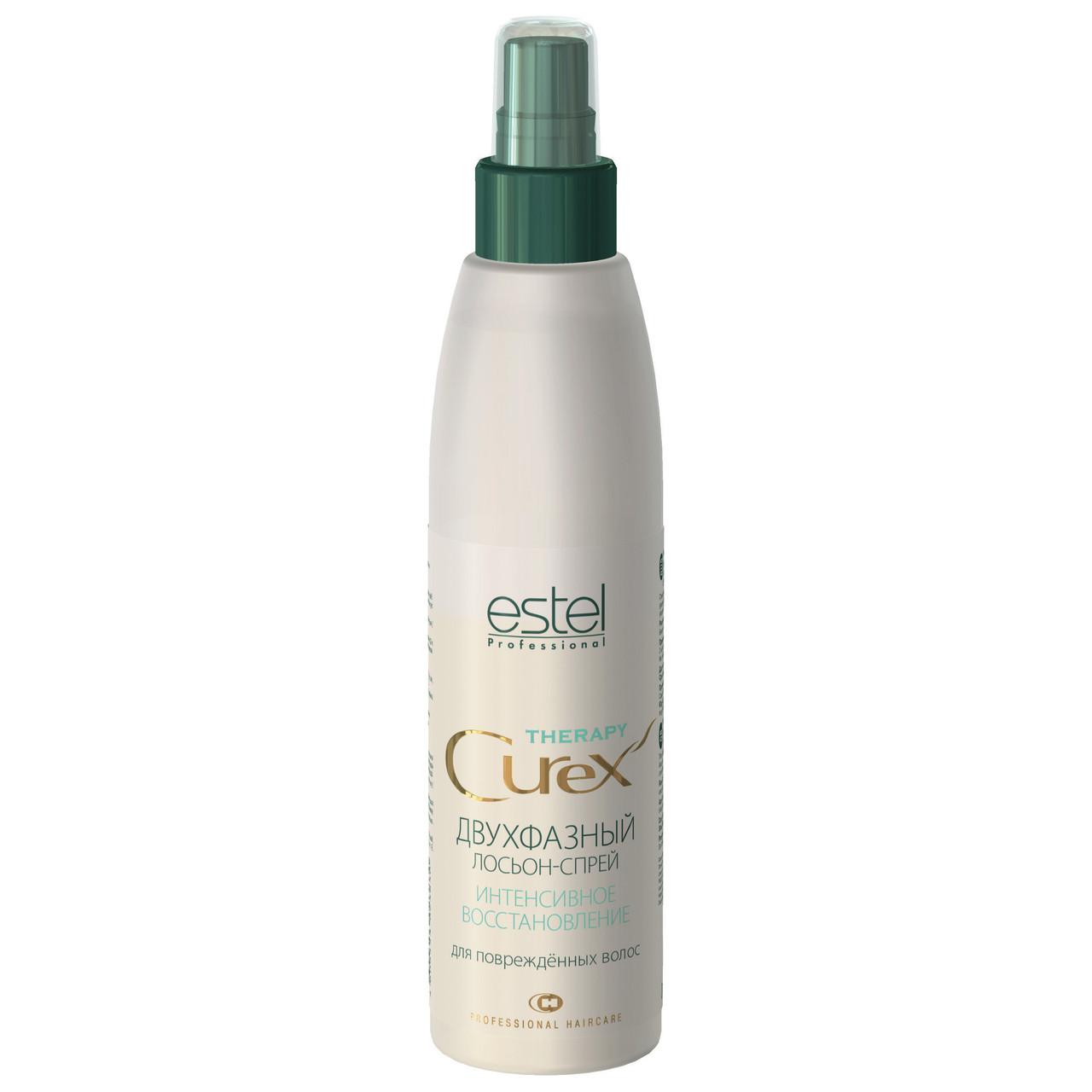 ESTEL CUREX THERAPY Двухфазний лосьон-спрей для відновлення волосся, 200 мл