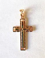 Кулон ХР крестик, позолота