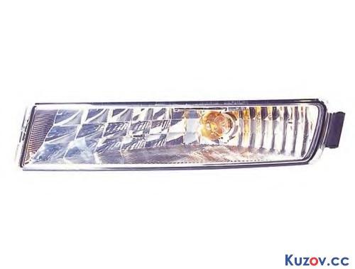 Указатель поворота в бампере Opel Movano 03-10 правый, белый (Depo) 4401906