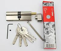 Cisa Asix 85мм 45х40 ключ/тумблер никель (Италия)