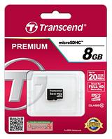 Карта пам'яті Transcend 8 GB microSDHC Class 10 (TS8GUSDC10)