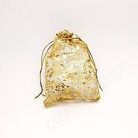 Мішечок подарунковий Органза Середній 22.5х16.5 см(Микс)