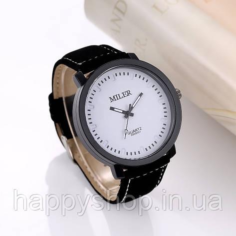 Часы мужские кварцевые MILER (Black+White), фото 2