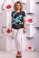 Стильная летняя туника с цветочным принтом
