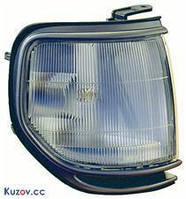 Габаритный фонарь Toyota Land Cruiser 80 '90-97 левый, серая оправа, хром. кант (DEPO) 212-1551L-UE1