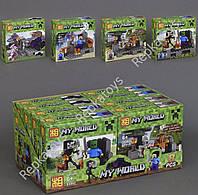 Конструктор МАЙНКРАФТ(minecraft), 4 вида, 8 шт. в упаковке (ОПТОМ) 93002