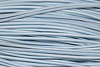 Резинка круглая, шляпная 2.5мм, (50м) голубой+белый