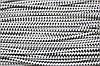 Резинка круглая, шляпная 2.5мм, черный+белый