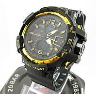 Часы Casio G-Shock GW-A1100 black/Gold. Реплика ТОП качества!, фото 1