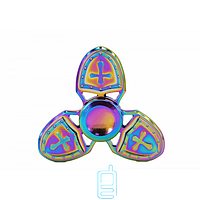 Спиннер, Fidget Spinner metal Щит хамелеон New