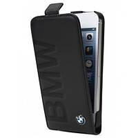 Кожаный чехол BMW iPhone 5/5S Logo Signature Flip Black