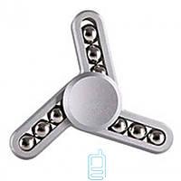 Спиннер, Fidget Spinner metal 9 шариков серебристый