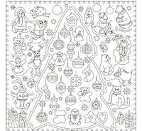 Обои - раскраски / раскраска / Новогодняя Сказка 60х60 см