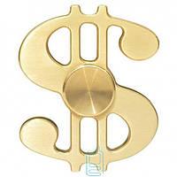 Спиннер, Fidget Spinner metall Доллар золотистый