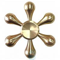 Спиннер, Fidget Spinner metall Капля золотистый