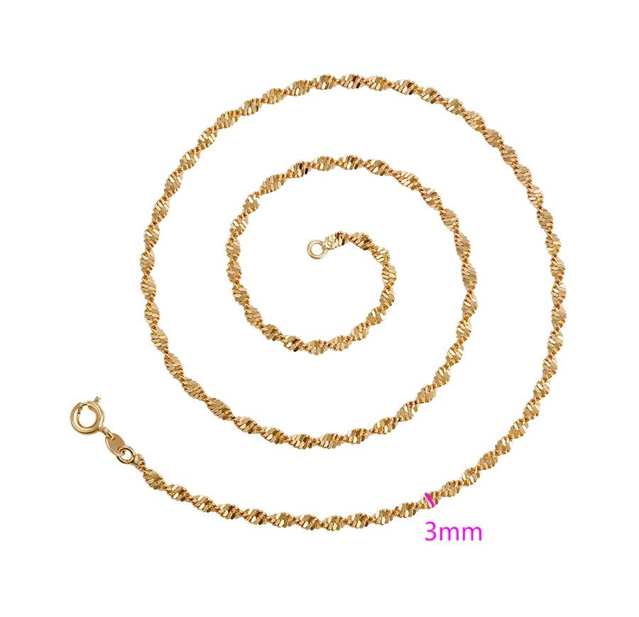 Цепочка позолота, Спиральное плетение, р.45