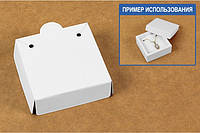 "Ложемент в коробку №0018 ""Для бижутерии"". Код М0018-Л01. Белый. Под кулон, фото 1"