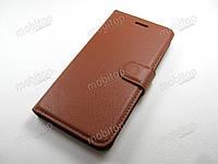 Кожаный чехол книжка ZTE Nubia Z17 mini (коричневый)