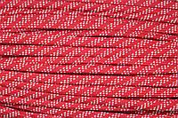 Шнур плоский 7мм (100м) красный+белый