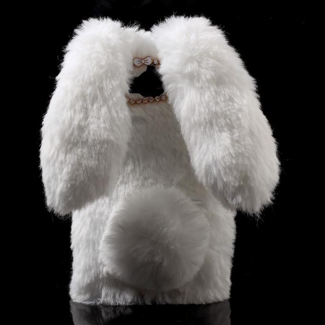 чехол накладка 3D на Huawei Y5 2017 белый зайка