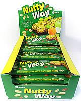 Ореховый батончик-мюсли с фруктами Nutty Way 40г/1шт, 20шт в коробке