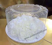 Пластиковая круглая упаковка для торта № 2