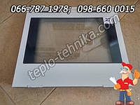 Дверь черно-белая духовки кухонной плиты 477х397 мм