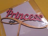 """Топпер деревянный """"Принцесса"""" (Princess) золото"""