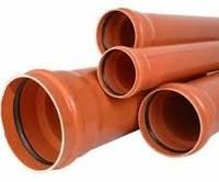 Трубы ПВХ Ф110 - Ф400 мм SN2 для наружной канализации