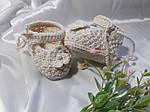 Пинетки сандалии детские вязанные