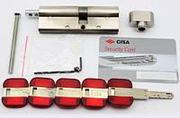 Cisa RS3 90мм 40х50 ключ/тумблер никель (Италия)